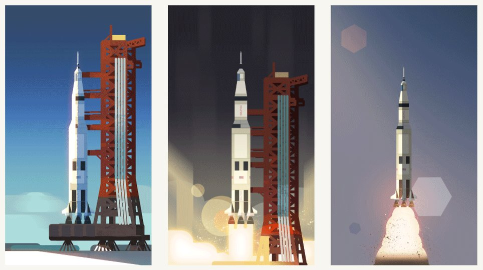 The Doodle team worked closely with @nasa and @AstroMCollins to tell the story of Apollo 11's historic landing on the moon. Go behind the scenes of today's #GoogleDoodle celebrating #Apollo50th → http://goo.gle/30MrqNQ