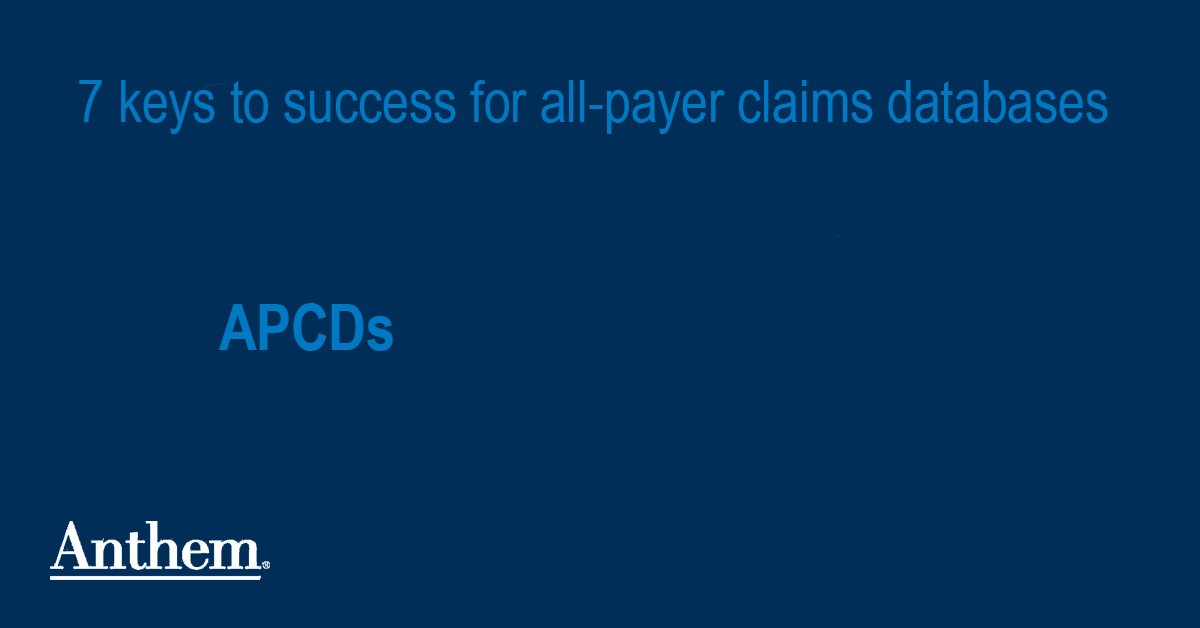 Image for the Tweet beginning: Are all payer claims databases