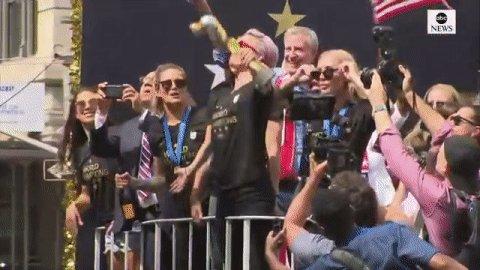 World champions. http://abcn.ws/2NLcuhe #USWNTParade