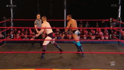 .@UNBESIEGBAR_ZAR is bringing the fight to @AshtonSmith_WWE! #NXTUK