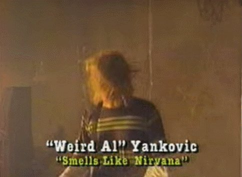 Sometimes I'll laugh out of nowhere and be unable to explain that I suddenly thought of #MyFaveAl parody: Smells Like Nirvana