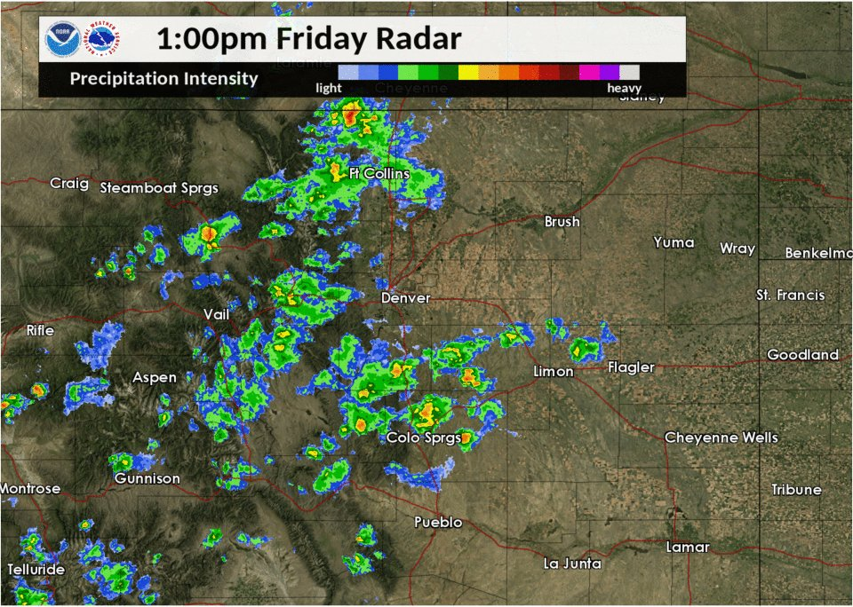 Image for the Tweet beginning: Scattered showers and storms will