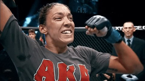 Germaine de Randamie (@IronLadyMMA) means business. She drops Aspen Ladd with her first punch thrown, forcing the referee to step in. Since losing to Amanda Nunes, de Randamie has gone 5-0 with three finishes. Rematch? #UFCSacramento #UFConESPN