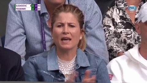 Mirka Federer is all of us watching Roger Federer battle Novak Djokovic
