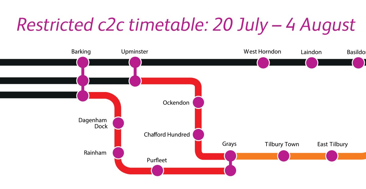 Image for the Tweet beginning: We're operating a restricted timetable