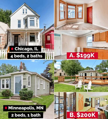 You're house hunting with a $200K budget, which one do you pick: A or B? 🏠For a closer look: A: https://t.co/BWEKh5Kt0N B: https://t.co/LwjQHtjIbY