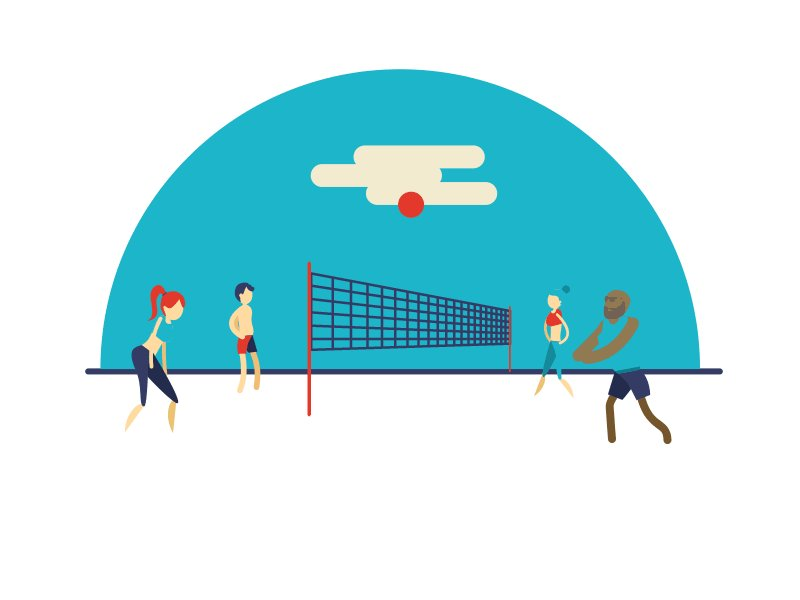 Картинки анимашки волейбол, сделать открытку
