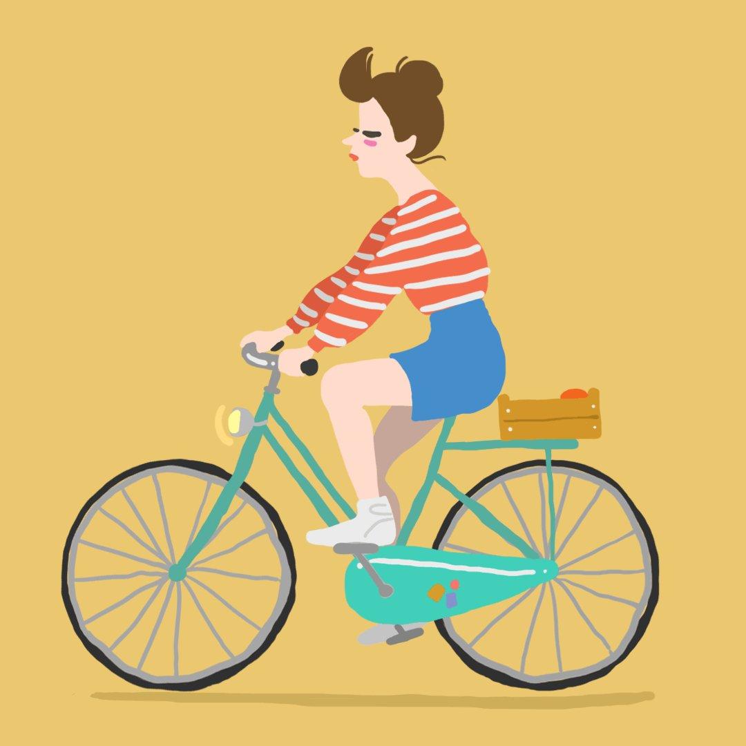Картинки анимация велосипед, днем рождения дочке