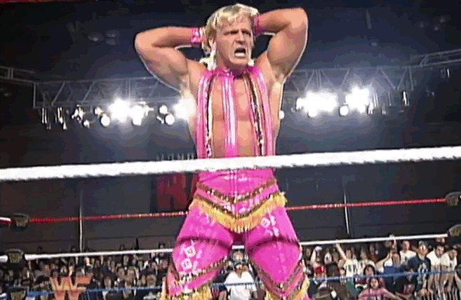 #RAWAfterMania Flashback: 1994 - Future #WWEHOF inductees Jeff Jarrett and Macho Man Randy Savage go to war over who looks more like an early-1990s wrestler.