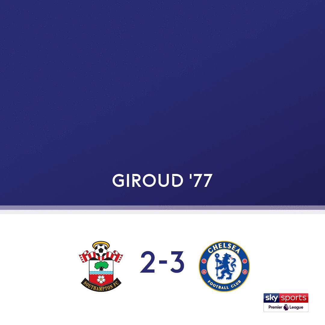 GOAL! Southampton 2-3 Chelsea.  Watch the @premierleague clash live on Sky Sports Premier League now or follow online: https://t.co/FtOuiol2F6