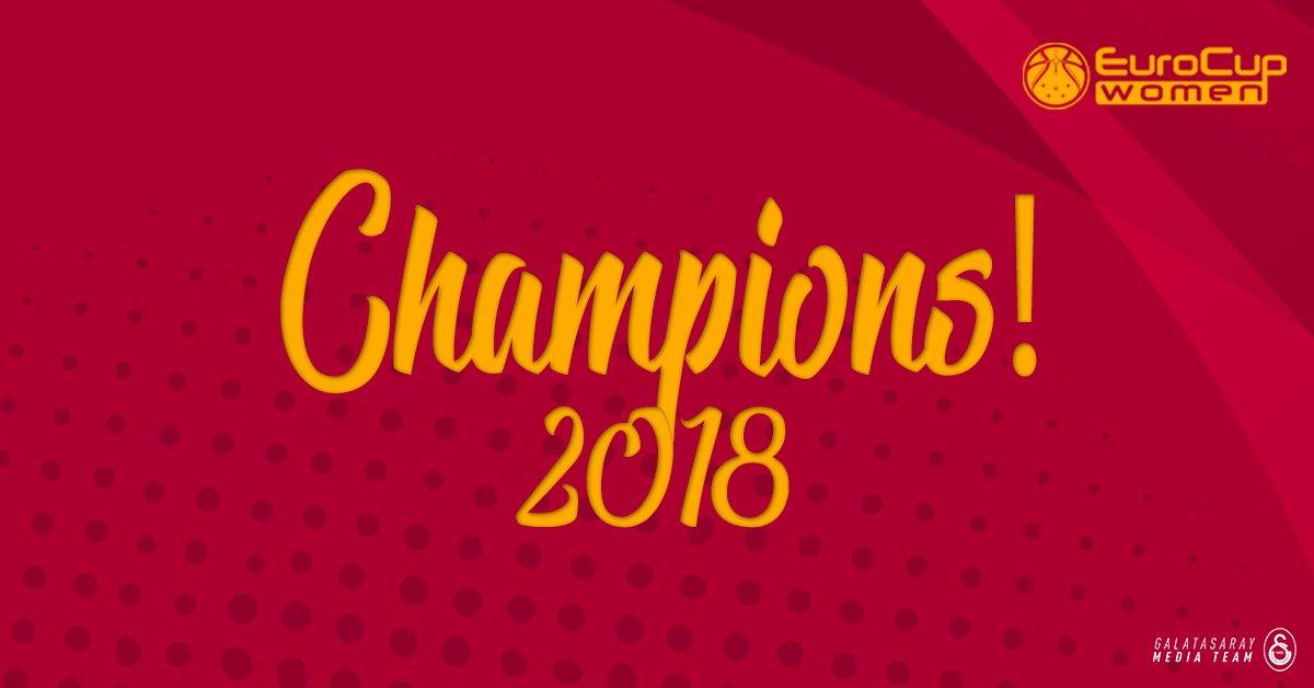 2017/2018 @EuroCupWomen Champions! 🏆  #G...