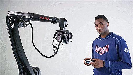 Meet the camera robots who film the shot...
