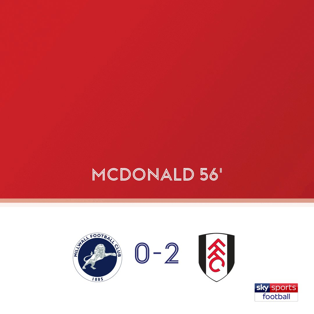 GOAL! Millwall 0-2 Fulham  Watch live on Sky Sports Football NOW or follow the @SkyBetChamp clash here: bit.ly/2qT48Wf