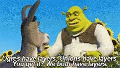 Ogres are like onions.  #mythicalcreatur...