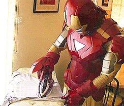 #TakeActionOutOfActionFilms Ironing Man...