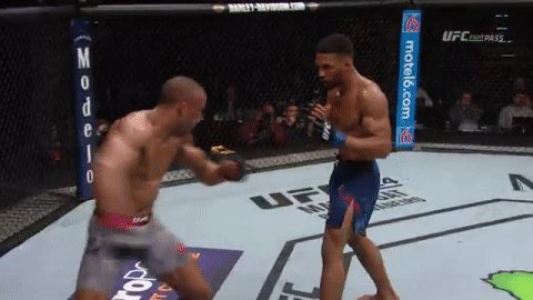 The kick was PERFECT!  #UFCAC