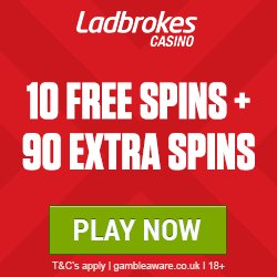 Image for the Tweet beginning: #ladbrokes 10 #free #spins extra