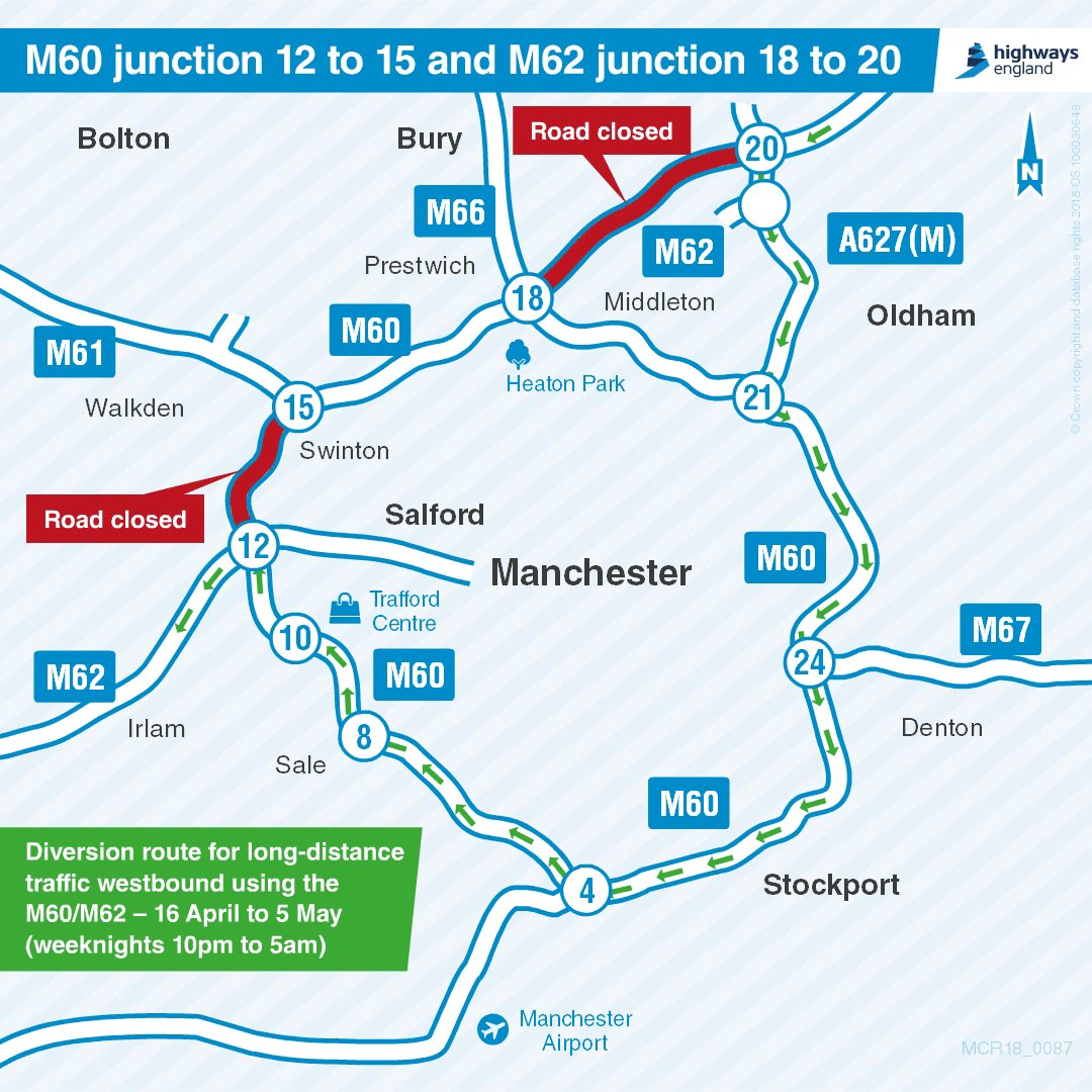 Motorway Map Of England.Highways England On Twitter There Ll Be Overnight 10pm 5am