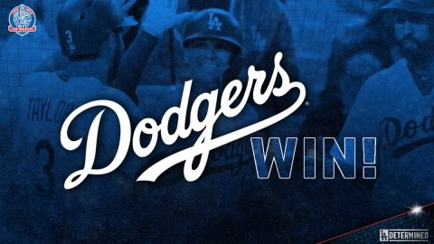Image for the Tweet beginning: #DodgersWin!  FINAL: #Dodgers 2, Marlins 1