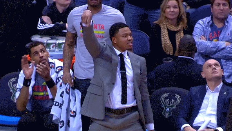 Waking up on @24Bazemore's recap day like...