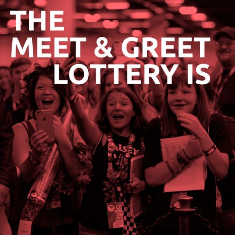 Vidcon on twitter hey did you know that the meet greet lottery did you know that the meet greet lottery is officially open if you havent purchased your tickets or registered your top creators you have until may m4hsunfo