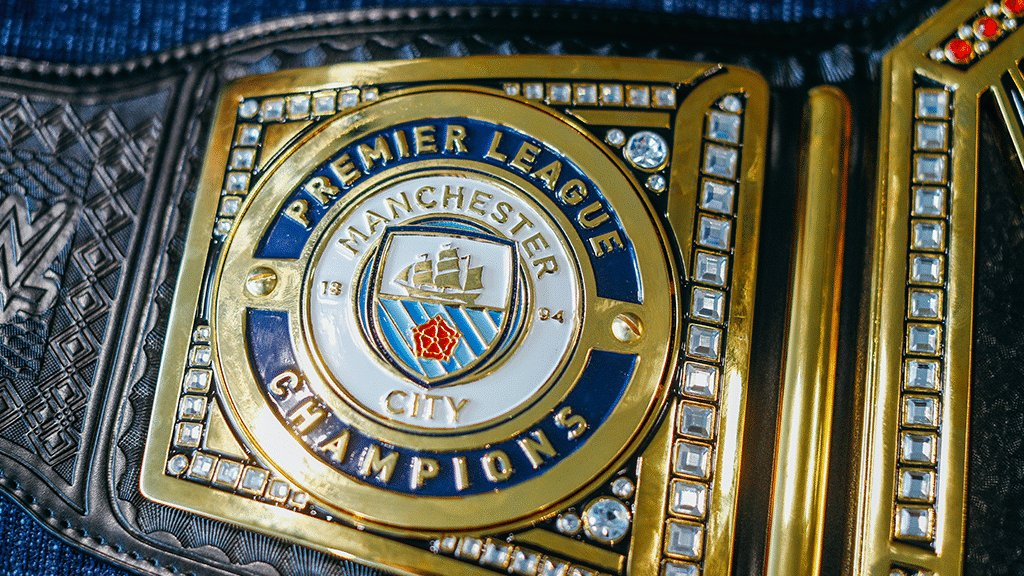 This weekend, get over to the @ManCity_Store at the Etihad Stadium and have your picture taken with the #CENTURIONs @WWE Championship belt! #mancity
