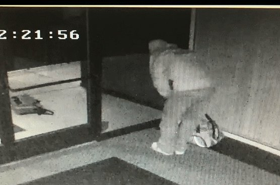 VIDEO: Security camera catches thief breaking it down after breaking into a #California business