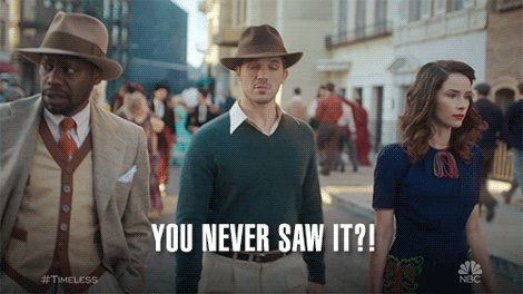 #EndARelationshipIn4Words: this gif when talking about #Timeless