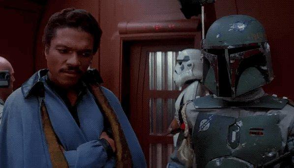 Boba Fett always gotta one up Han Solo