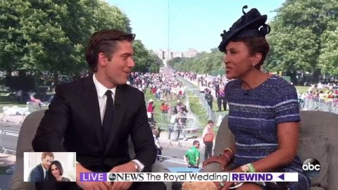 DREAM TEAM! @RobinRoberts @DavidMuir from Windsor 🇬🇧 #RoyalWedding gma.abc/2rZzZpB