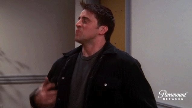 Don't freak out, Joey. Hang out with your @FriendsTV tonight on #ParamountNetwork!