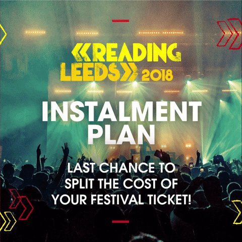 LAST MONTH to split the cost of your #RandL18 ticket with our Instalment Plan! ❤️💛 🎟: goo.gl/v694m9