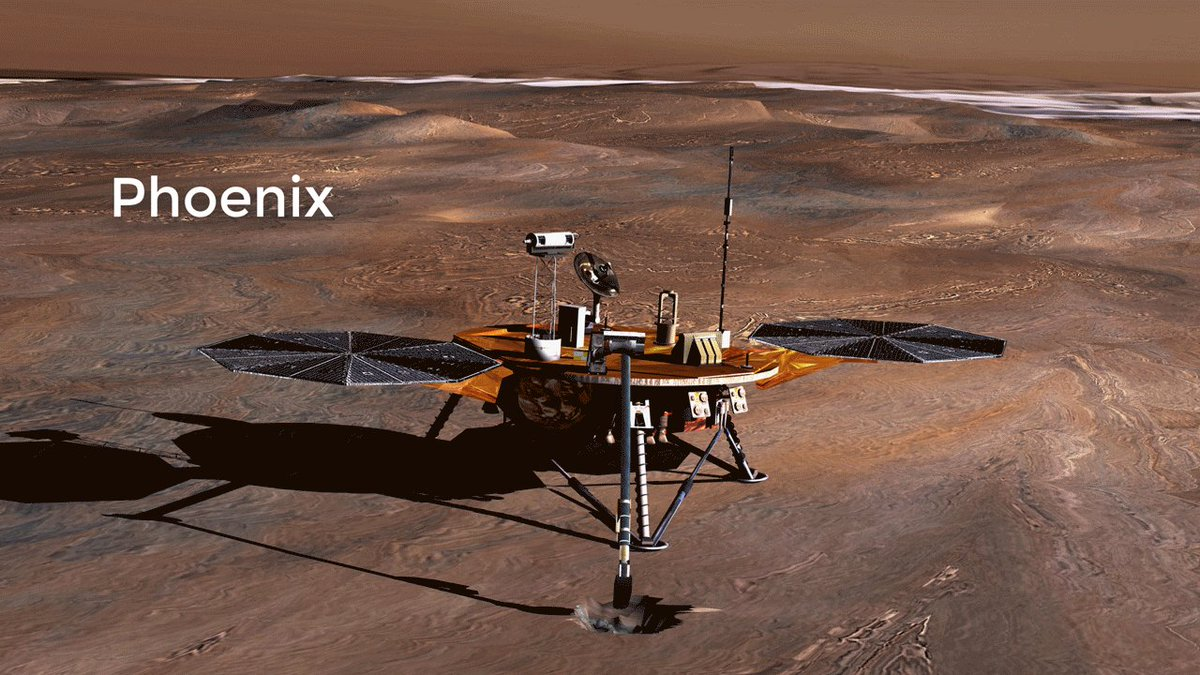 Today is the 10th anniversary of @MarsPhoenix's landing! We've got more in common than our good looks. My entry, descent and landing (EDL) system draws heavily on Phoenix's technology. Learn more: https://t.co/YuxdU7zlc1