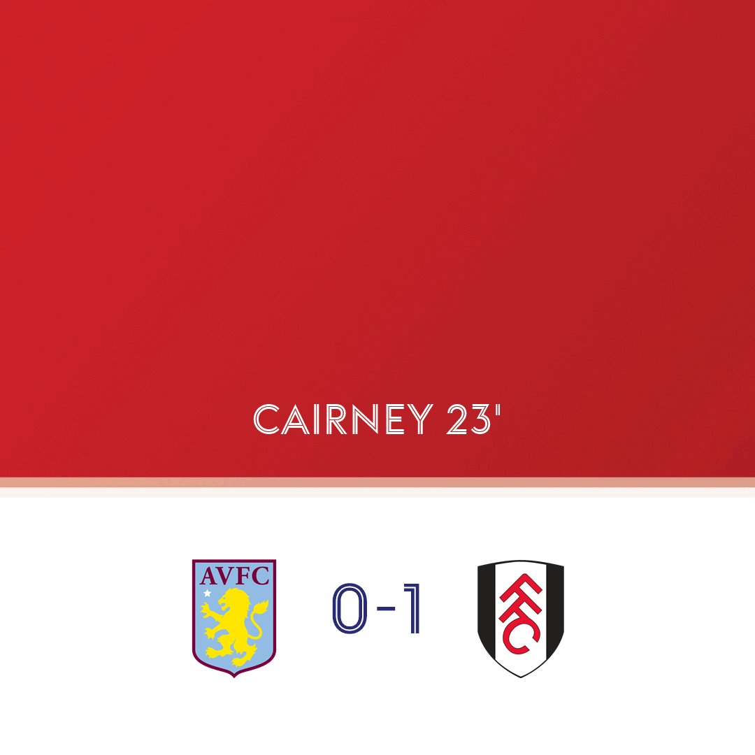 GOAL! @AVFCOfficial 0-1 @FulhamFC (Cairney, 23)  Watch the action on Sky Sports Football and Main Event or follow the action here: https://t.co/t3WZuw2UiO