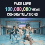 RT @BTS_KCHARTS: [ YouTube Record ]   Fake Love 1억...