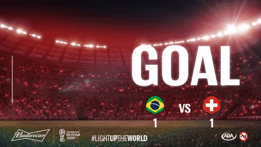 Did you expect that goal from #SUI? #BRA might have walked onto the field with the stats on their side, but #SUI just proved that they're here to #LightUpTheWorld. #BRASUI FIFA #WorldCup