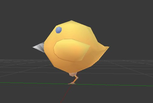 #lowpoly drill rocket chick robot made in #b3d. #gamedev #indiedev