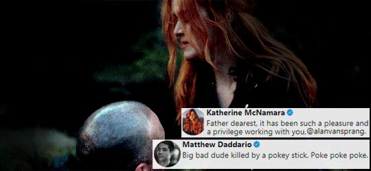 RT @LightwoodBane96: Kat's reaction vs Matt's 😂😂😂   I miss #ShadowhuntersChat 😭#SaveShadowhunters https://t.co/TfHHwGMTzb