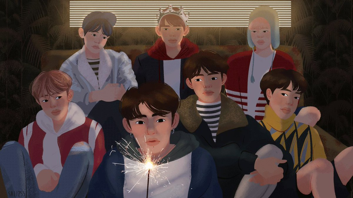 Happy 5th anniversary, @BTS_twt ✨ tumblr.co/6011DYDl7 (art by @mochi255) #5thFlowerPathWithBTS
