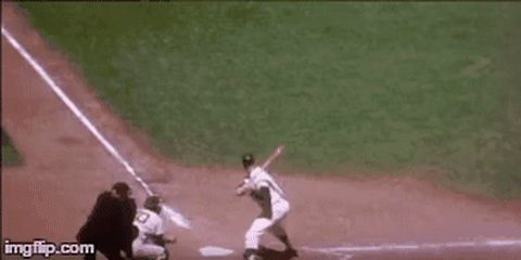 Attention modern ballplayers: Mickey Mantle was bat flipping before you and better than you.
