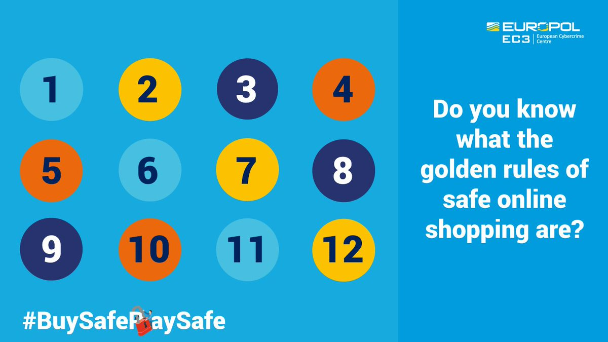 Image for the Tweet beginning: #BuySafePaySafe golden rules:   👍