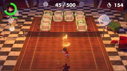 In #MarioTennis Aces, your quest to save Luigi from the Legendary Racket features a huge variety of challenges. In this one, you'll need to focus on utilizing different types of shots for pinpoint accuracy. It's a great way to master the basics before taking your skills online!