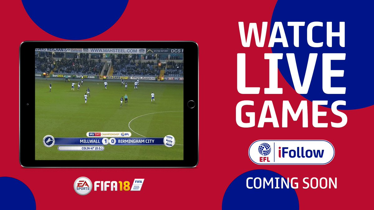iFollow: Midweek #EFL matches available for supporters in UK & Ireland this coming season. Read more >> po.st/FRD1819