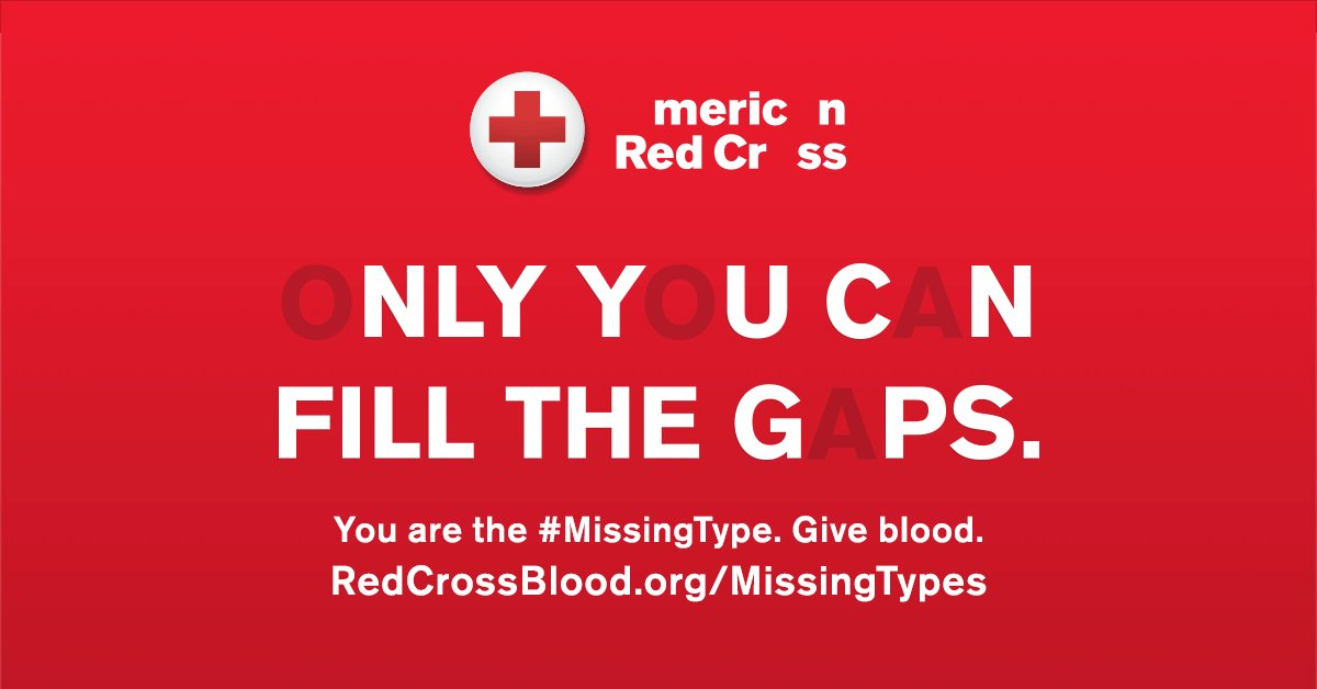 A few missing letters may not seem like a big deal, but it can be when it comes to blood type. We're partnering with the @RedCross to help fill the gaps & you can too. Create your own #MissingType selfie, removing A, B and O from your name: adobe.ly/2lrqxrc