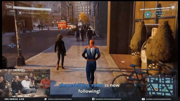 new spiderman game has a button prompt to take a selfie with random citizens. goty.