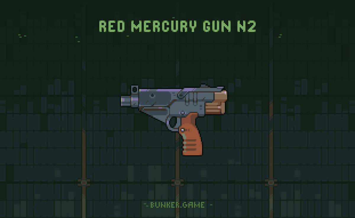 Gun for a @bunker_game #pixel #pixelart #weapon #bunkergame #animation #indie #indiegame #game