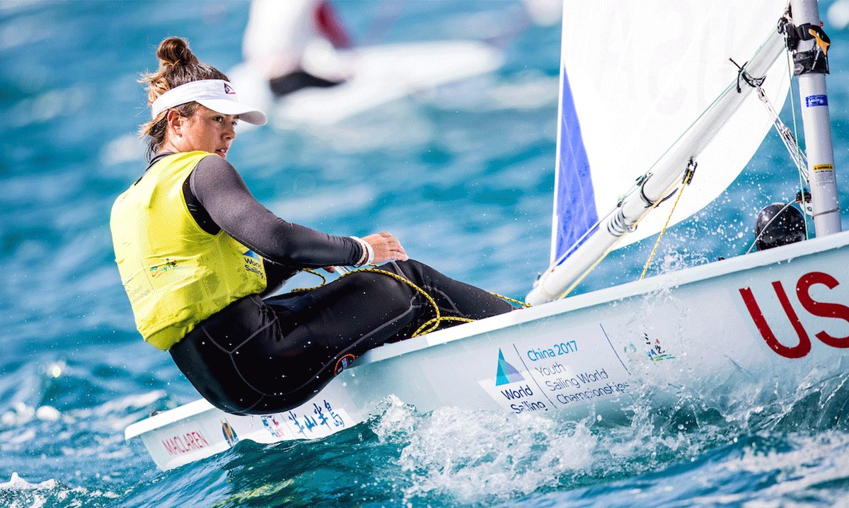 Charlotte Rose returns to @youthworlds in Corpus Christi for US Sailing's Youth Worlds Team! 🥇