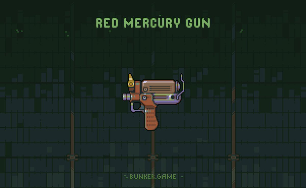 Gun for a @bunker_game #pixel #pixelart #game #indie #indiedev #weapon