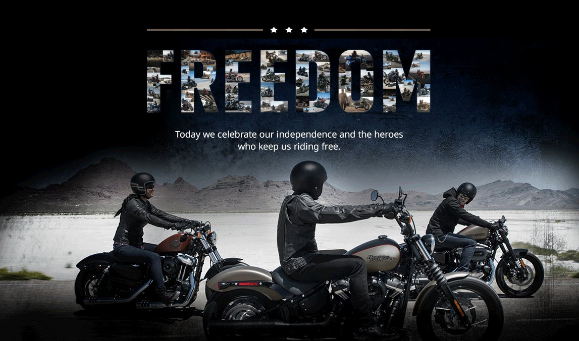 Reloaded twaddle – RT @harleydavidson: Today we celebrate our independence and the heroes who keep ...