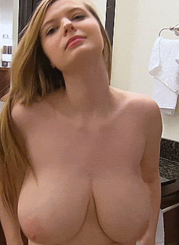 Big natural tits bouncing in a hardcore threesome